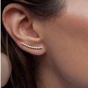 Leah Alexandra Astro Rose Gold Ear Crawlers